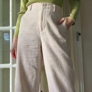 Cream Corduroy Trousers from Uniqlo